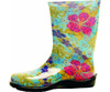Sloggers Women's Tall Printed Rain and Garden Boot - Midsummer Blue