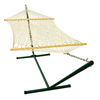12' Steel Stand and 11' Rope Hammock Combination