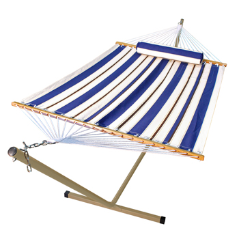 12' Steel Stand and 11' Fabric Hammock with Matching Pillow