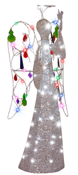 4 ft. Multi Color Jeweled Crystal Angel