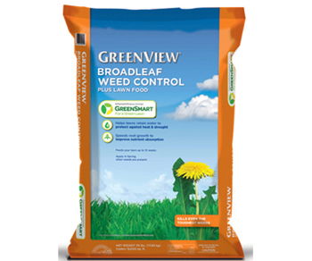 GreenView Broadleaf Weed Control Plus Lawn Food With GreenSmart - 15,000 sq. ft.