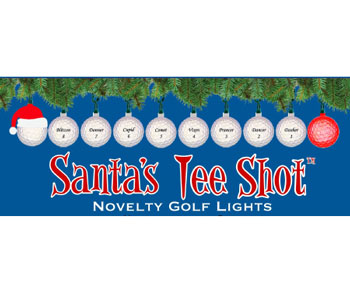 10-Light Santa w/Reindeer Golf Balls Light Set