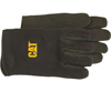 CAT Yellow Fleece-Lined Jersey Gloves