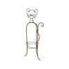 Whimsical Metal Cat Planter Holder