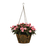 16 in. Metal Hanging Diamond Pattern Basket with Coco Liner