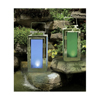13 inch Solar Stainless Steel Lantern with Blue Light