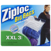 Ziploc Big Bags with Double Zipper XXLarge (pack 8)