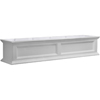 60 in. Window Box White Planter