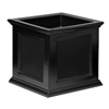 20 in. Square Patio Black Planter