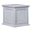 20 in. Square Patio White Planter