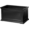 36 in. Fairfield Rectangular Patio Planter Black