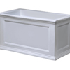36 in. Fairfield Rectangular Patio Planter White