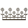 11 in. x 24 in. Rose Garden Wall Decor Steel