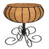 14 in. Steel Patio Urn with Coco Liner