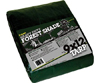 Heavy-Duty Forest Green UVI Tarps - 9' x 12'