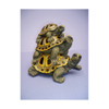 9 in. Threes A Crowd Stacked Turtles Garden Statue